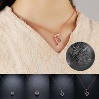 100 idiomas te amo collar colgante joyas de corazón regalos de navidad unos 45cm