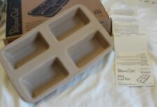 Pampered Chef Mini Loaf Pan #1418 Meatloaf/Bread/Cakes NEW w/ Recipe cards