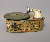 Vintage c1920's tinplate toy gramophone, clockwork
