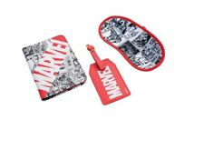 Marvel Comics Travel Set Blindfold Passport Cover &  Name ID Tag for Suitcase