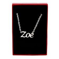 ZOE Silver Tone Name Necklace | Girlfriend Appreciation Gifts Ideas Christmas
