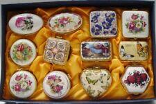 Porzellan Pillen Dosen Sammlung SET-12 H: 3,5 cm Töpfe & Zierschalen Geschenk