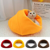 Comfy Cat Cave Beds with Fleece Sleep Mat Small Puppy Dogs Indoor Igloo Kennel