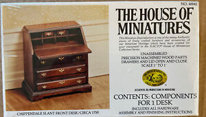 THE HOUSE OF MINIATURES #40042 CHIPPENDALE Slant Front Desk NEW