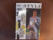 Style Misses Dress, Jacket, Top, & Skirt Sizes 8-18 Uncut Pattern 2984