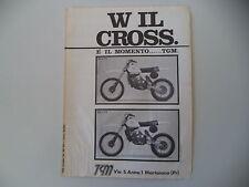 advertising Pubblicità 1979 MOTO TGM CROSS 125 C/250 C
