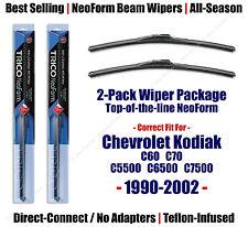 2pk Super-Premium NeoForm Wipers 1990-02 Chevy C60 C70 C5500 C6500 C7500 16180x2