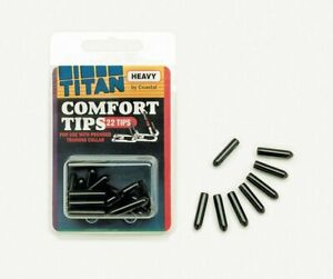 Coastal Titan Vinyl Comfort Tips for Prong Training Dog Collar Black 2MM