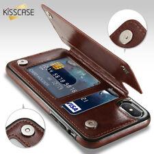 Magnetic Leather Wallet Case Card Slot Shockproof Flip Cover for Samsung S8 S9 +