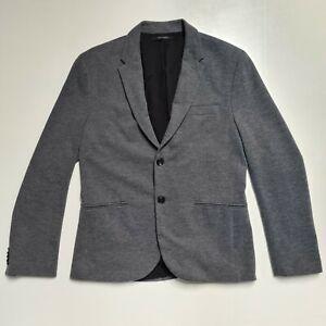 Zara Mens Navy Blue 42R Large Blazer Smart Casual Formal Suit Races Wedding