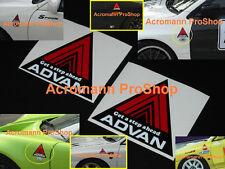 "2x 4""10.2cm ADVAN triangle fender Decal Sticker Evo spoon civic dc2 dc5 JDM USDM"