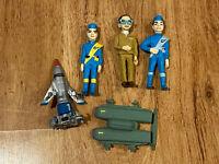 Thunderbirds Yujin Carlton Real Model Collection x5 Mini Figure set