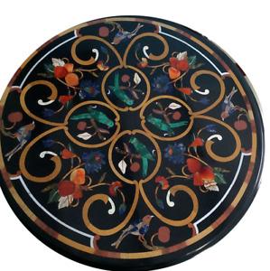"24"" marble Table Top Inlay pietradura handmade art home Decor"