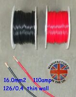 Pared delgada cable 16.0mm², (5AWG) 110amp, Auto, Marino, Bajo Voltaje, TW16.0