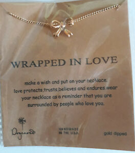Dogeared Necklaces   Wrapped in Love   Gold Dipped