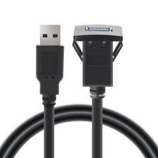 1m USB3.0 Einbau Buchse Adapter Kabel Anschluss Verlängerung für KFZ Auto MP3 PC