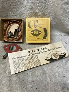 Vintage NOS Auto car Accessory Electric Air-Gas Starter Chrysler Chevy GM Ford