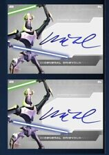 2x GENERAL GRIEVOUS-CLONE WARS SIGNATURE-WHITE-TOPPS STAR WARS CARD TRADER