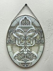 Joan Baker Designs, Suncatcher-LO236-Butterfly in Whites//Be joyful, New items
