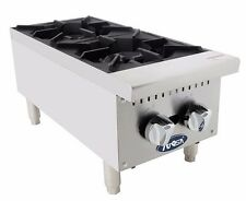 """Atosa ATHP-12-2, Commercial 12"""" 2 Burner Hot Plate / Countertop Range, Gas"""