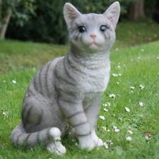 Katze Kater Katzen Mieze Tier Tierfigur Dekofigur Grau Cat