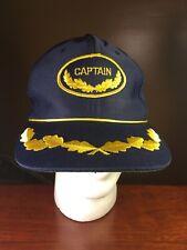 """Vintage """"Captain"""" Snapback Hat/Cap, Captain Patch"""