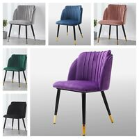 Milano Scallop Shell Crushed Velvet Chair Sofa Seat Dining Kitchen Accent Chairs