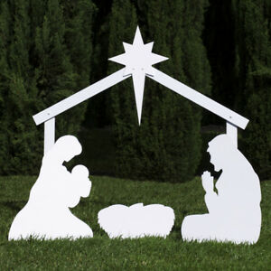 Outdoor Nativity Store Outdoor Nativity Set Add-on Angel Large, White