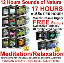 *SALE* SOUNDS OF NATURE 12 HOURS FREE 5 HOURS RELAXATION MEGA PACK mp3 's MRR CD