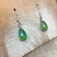 Green Crystal Bohemian Drop Earrings Boho Fashion Accessory Gift for Women