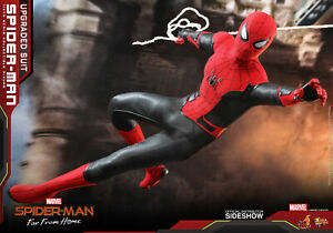 Hot Toys Spiderman Upgraded Suit Version Far From Home 1/6 Scale Figure In Stock
