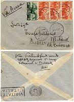 1145 - Colonie, Eritrea, Etiopia - Striscia 3 pezzi 75 cent su busta, 20/05/1937