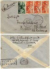 1145 - Colonie, Etiopia - Striscia 3 pezzi 75 cent su busta, 20/05/1937