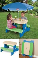 Kids Play Table N Chairs Picnic Set w Folding Umbrella Kid Child Toy Table NEW