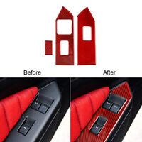 Rot. Kohlefaser Fenster Wechseln Panel Trim Aufkleber Für Ford Mustang 2009-2013