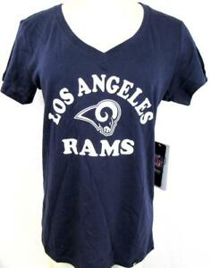 Los Angeles Rams Womens S - XL Screened V-neck Team T-shirt ARAM 124