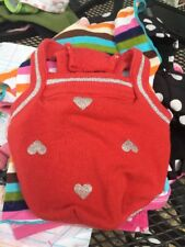 SUPER CUTE PET DOG CLOTHES MARTHA STEWART PETS RED HEARTS TANK SIZE-XS!