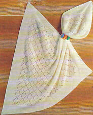 BABY SHAWL IN 2 PLY  KNITTING PATTERN           (224)