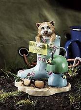 Comic & Curious Cats / Linda Jane Smith Figurine GLORIOUS MUD A9765 Discontinued