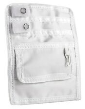EMI Nurse Nylon 5 Pocket Organizer Scrub Uniform Pal & Belt loop - Color - White