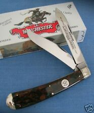 VINTAGE WINCHESTER LARGE HUNTER TRAPPER 2-BLADE FOLDING KNIFE
