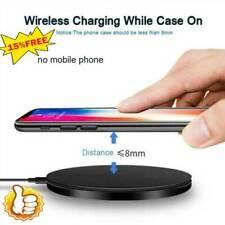 Qi беспроводной зарядное устройство быстрой зарядки подушечка, док-станция для iPhone/Samsung/Android сотового телефона
