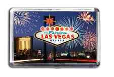 Welcome To Fabulous Las Vegas Nevada Fridge Magnet Night Time Vegas Strip