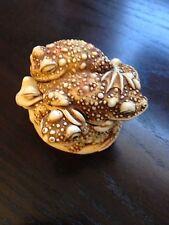 Harmony Kingdom Puddle Huddle Toad Trinket Box Peter Calvesbert & Free Shipping