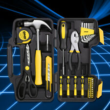 Yellow Portable Household Toolbox 39-Piece General Home Repair Hand Tool Package