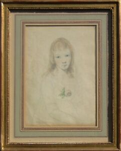 LISTED Samuel William Reynolds Portrait of Girl Old Master W/C Painting NO RES