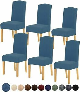 Stretch Chair Cover for Home Decor Dining Chair fleece and velvet 4 or 6 pcs