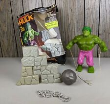 Vintage Remco Energized Hulk Original with Box and Accessories 1979 Not working
