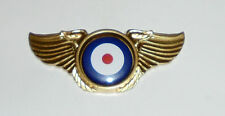 Fighter RAF Spitfire Aircraft Plane Pilot Roundel War Wing Jacket Hat Pin Badge