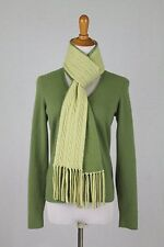Ann Taylor Spring Green Pure Cashmere V-Neck Pullover Sweater & Scarf Set PS